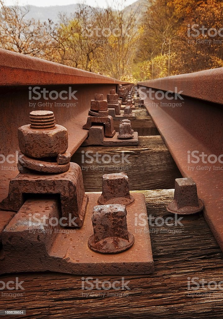 Old rusty railway royalty-free stock photo