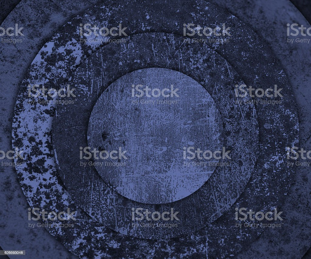 old rusty round metal plate sbackground vector art illustration
