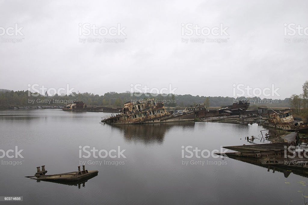 old rusty ships royalty-free stock photo
