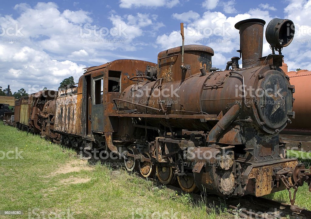 Old rusty steam locomotive royalty-free stock photo