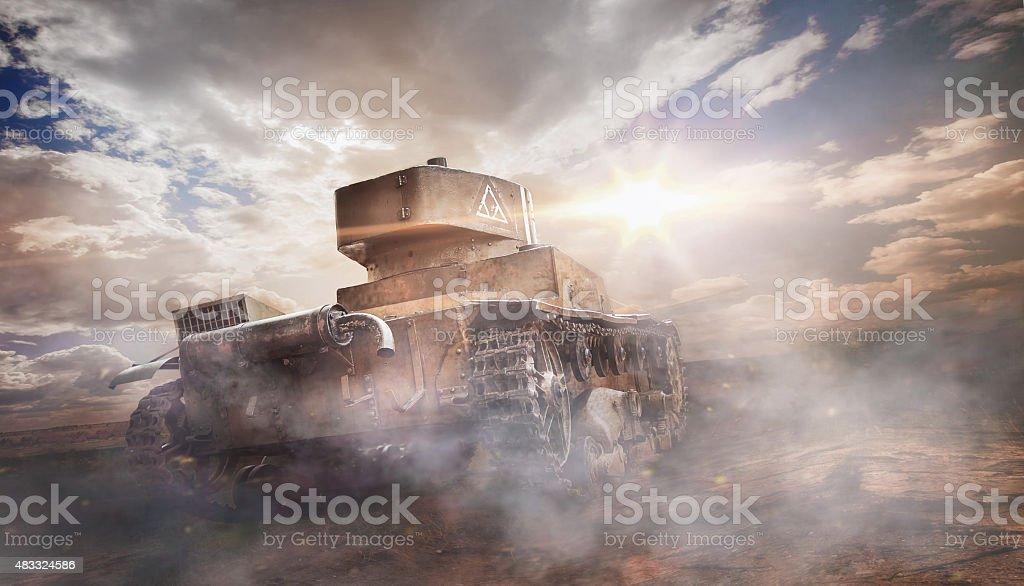 Old rusty tank stock photo