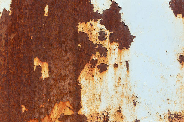 Old rusty textured metal sheet stock photo