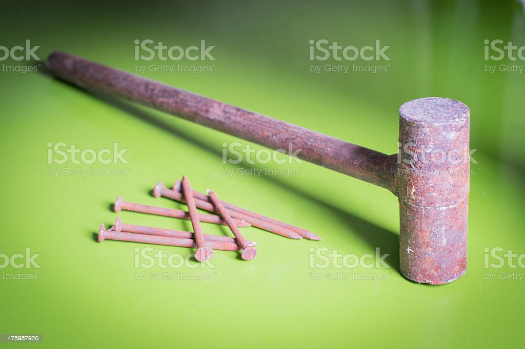 Old rusty tools stock photo