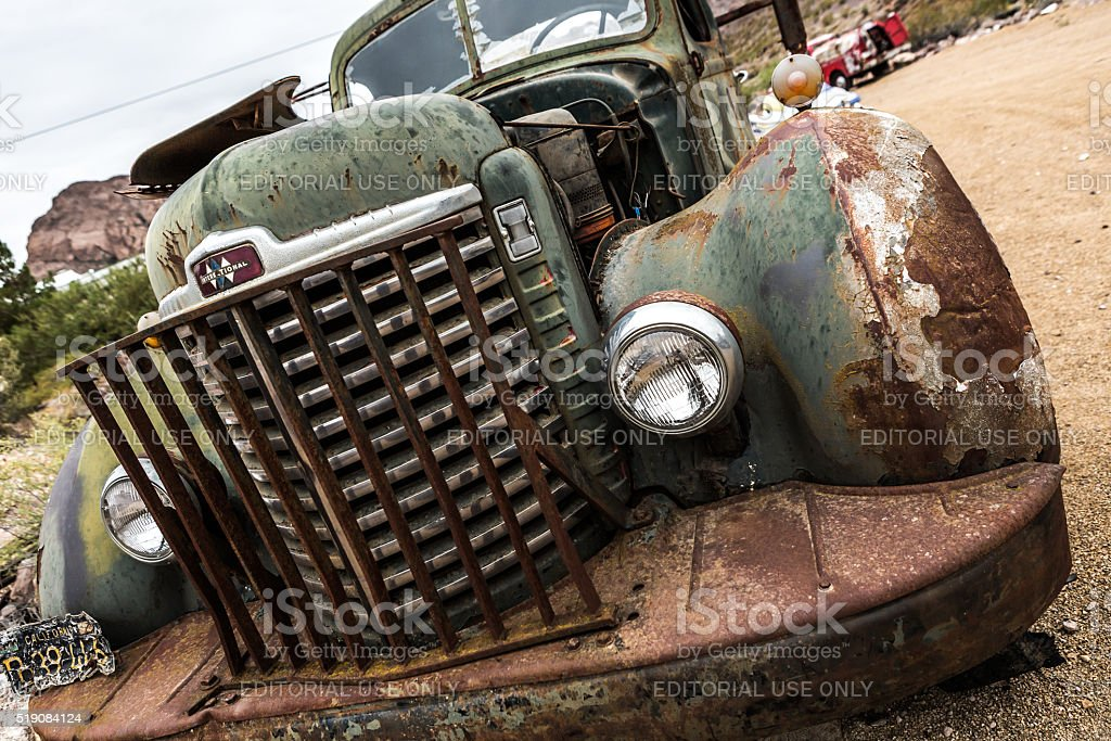 Old Rusty Truck In Nelson Nevada Ghost Town Stock Photo & More ...