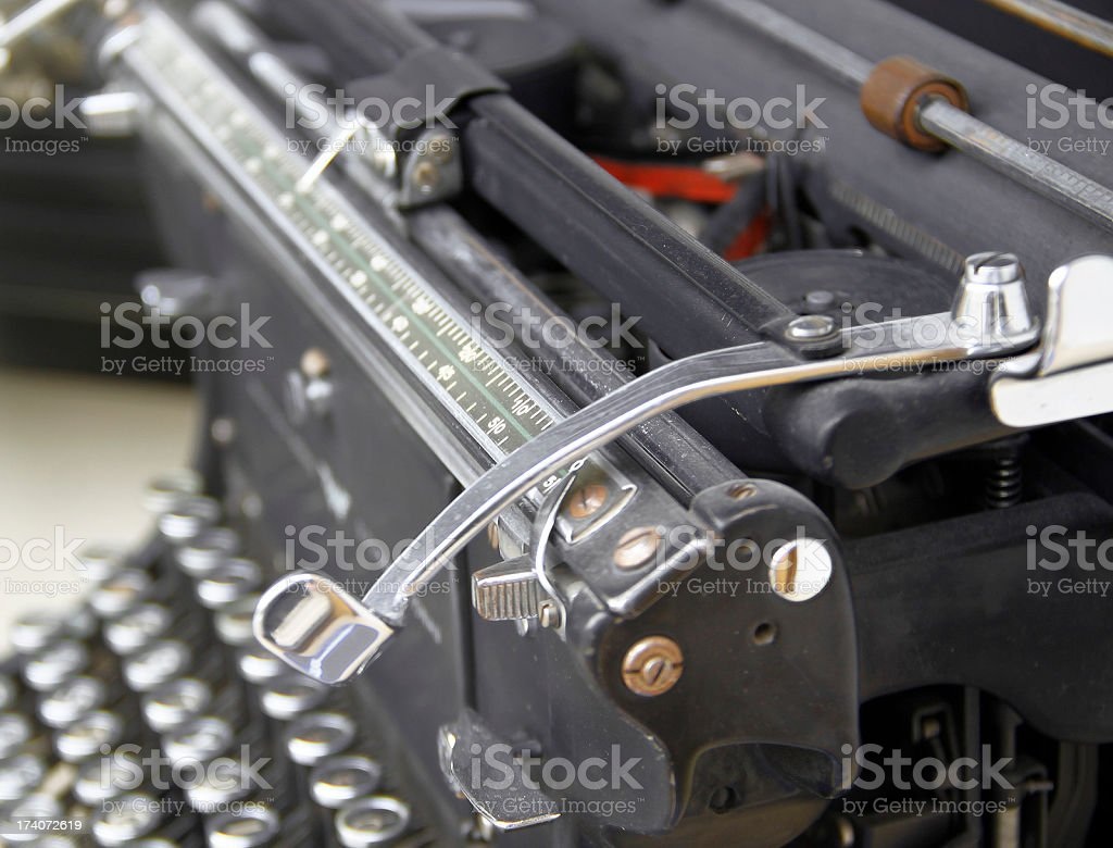 Old rusty typewriter stock photo