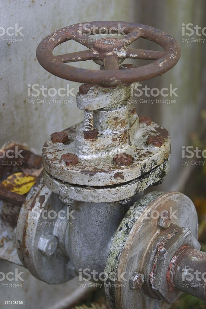 Old rusty valve royalty-free stock photo