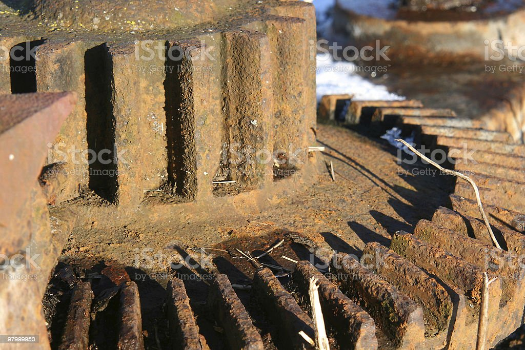 Old rusty wheel royalty-free stock photo