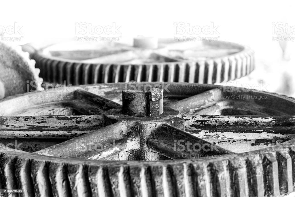 old rusty wheels stock photo