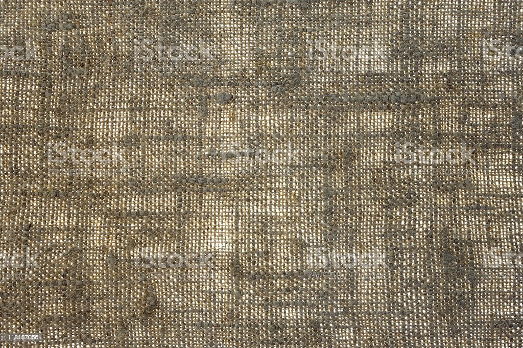 Old sackcloth in backlight royalty-free stock photo