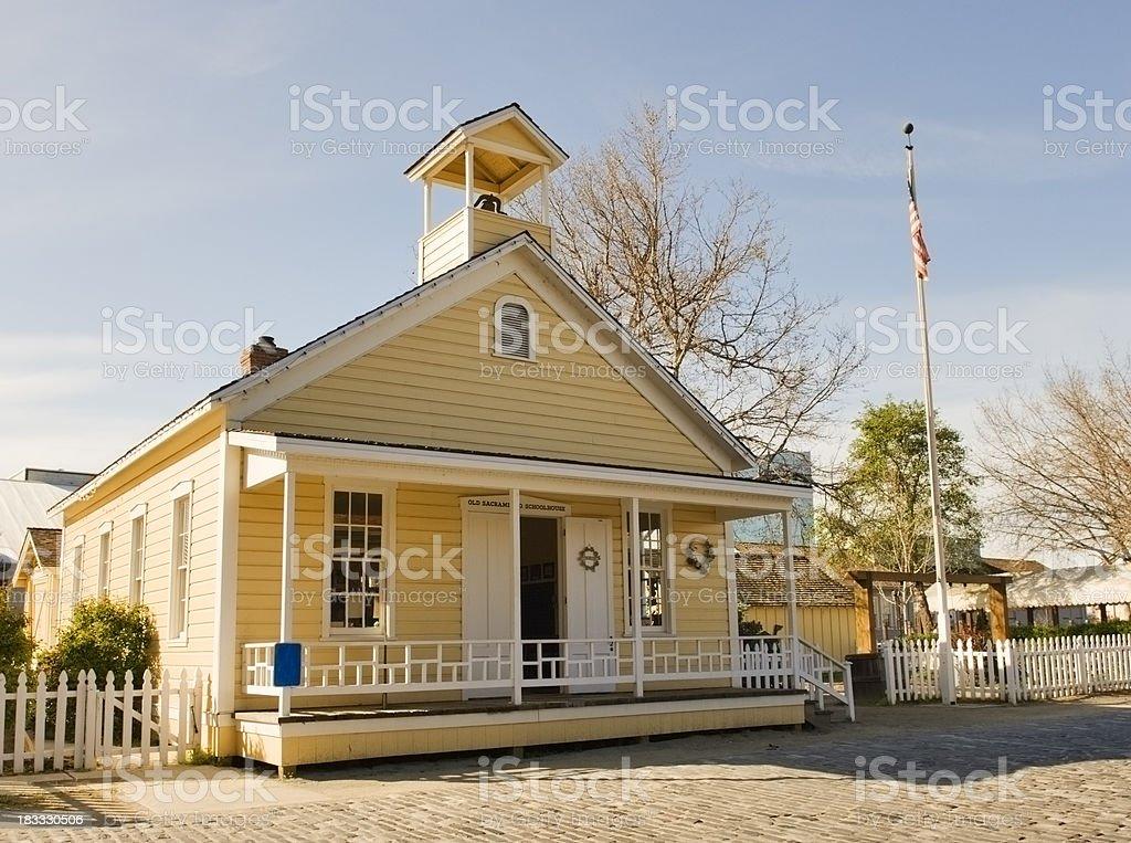 Old Sacramento Schoolhouse stock photo