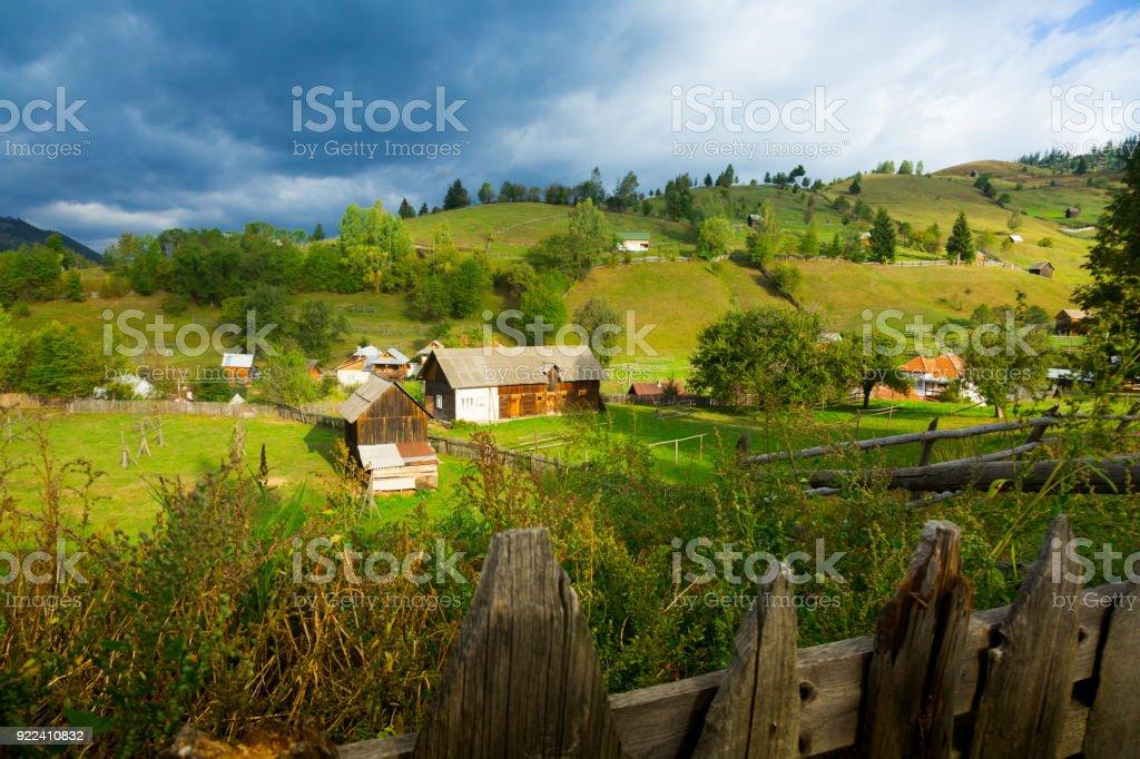 Old Sadova village stock photo