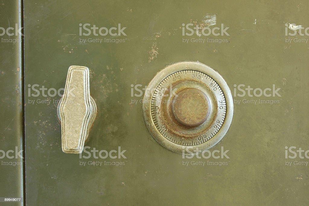 Old safe closeup royalty-free stock photo