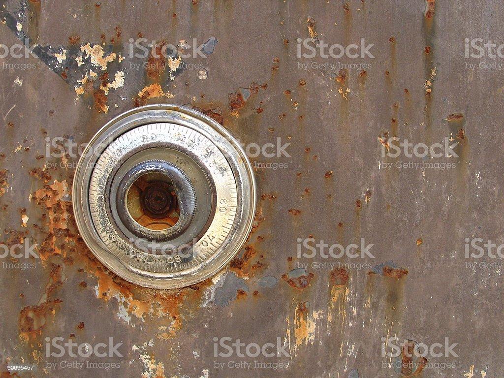 Old Safe Lock royalty-free stock photo