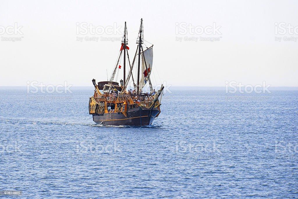 Old Sailing Ship stock photo
