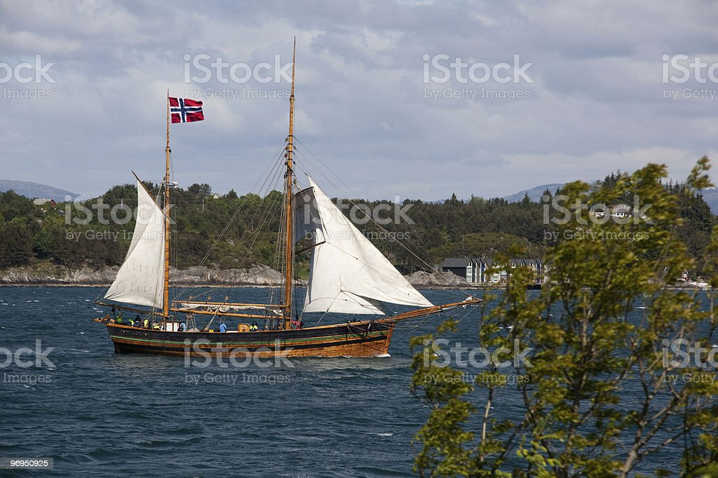 Old sailing vessel royalty-free stock photo