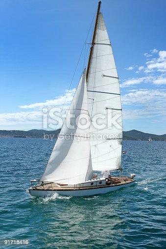istock Old sailing-boat 91718416