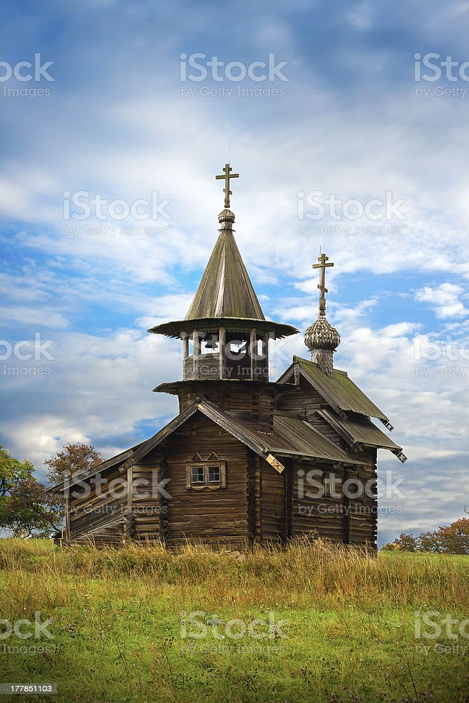 Old Saint Michael wooden church royalty-free stock photo