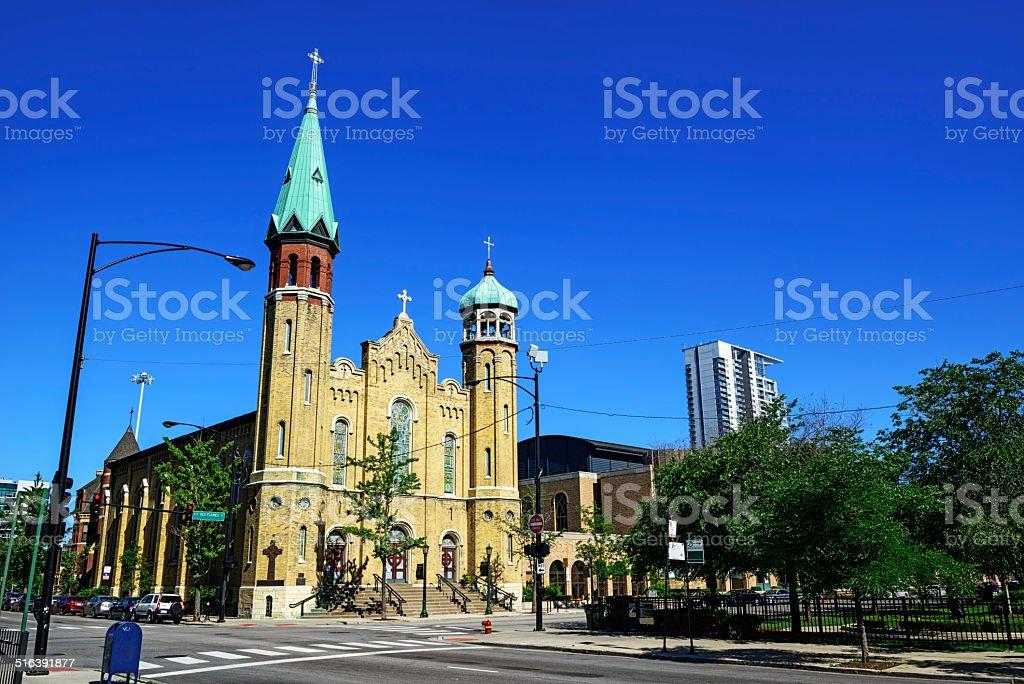 Vieille église Saint-Patrick à Chicago - Photo