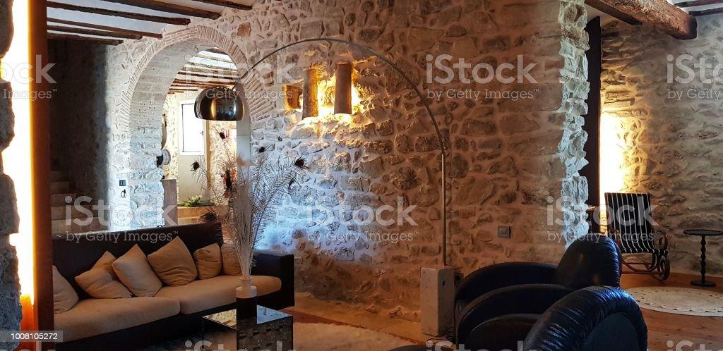 Viejo salón - foto de stock