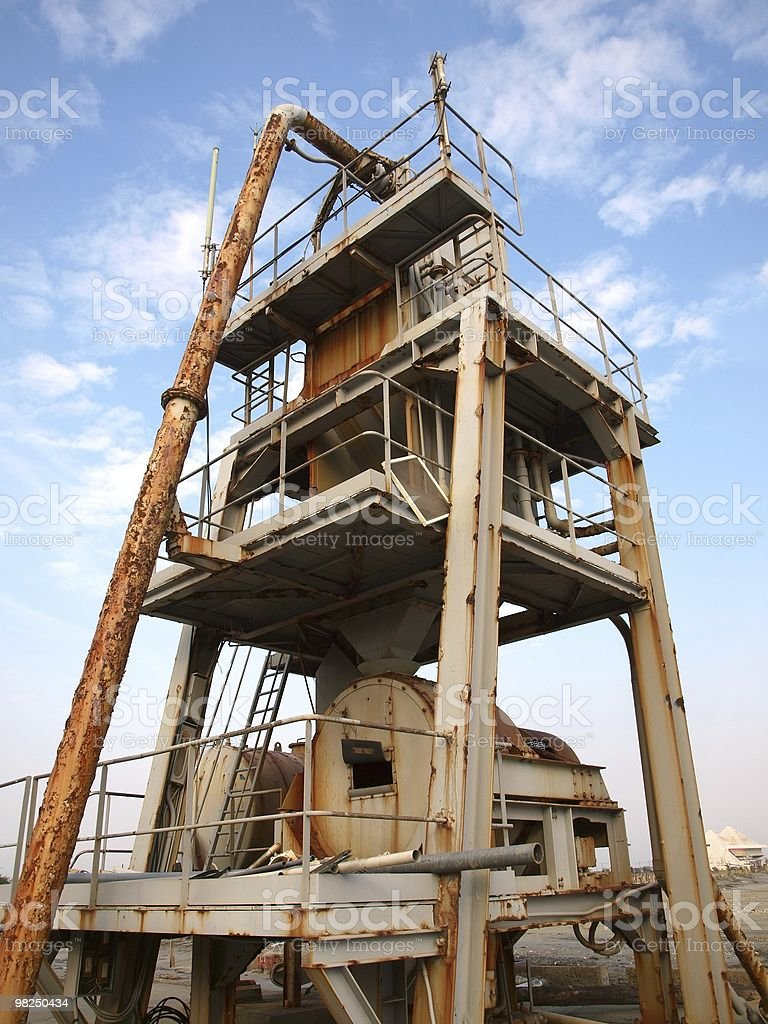 Old Salt Mining Equipment royalty-free stock photo