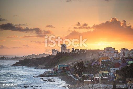Puerto Rico, San Juan, Old San Juan, Caribbean, Fog