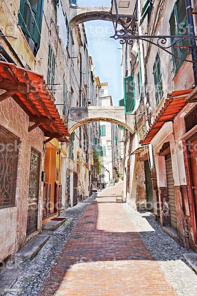 Old San Remo City, Italy stock photo