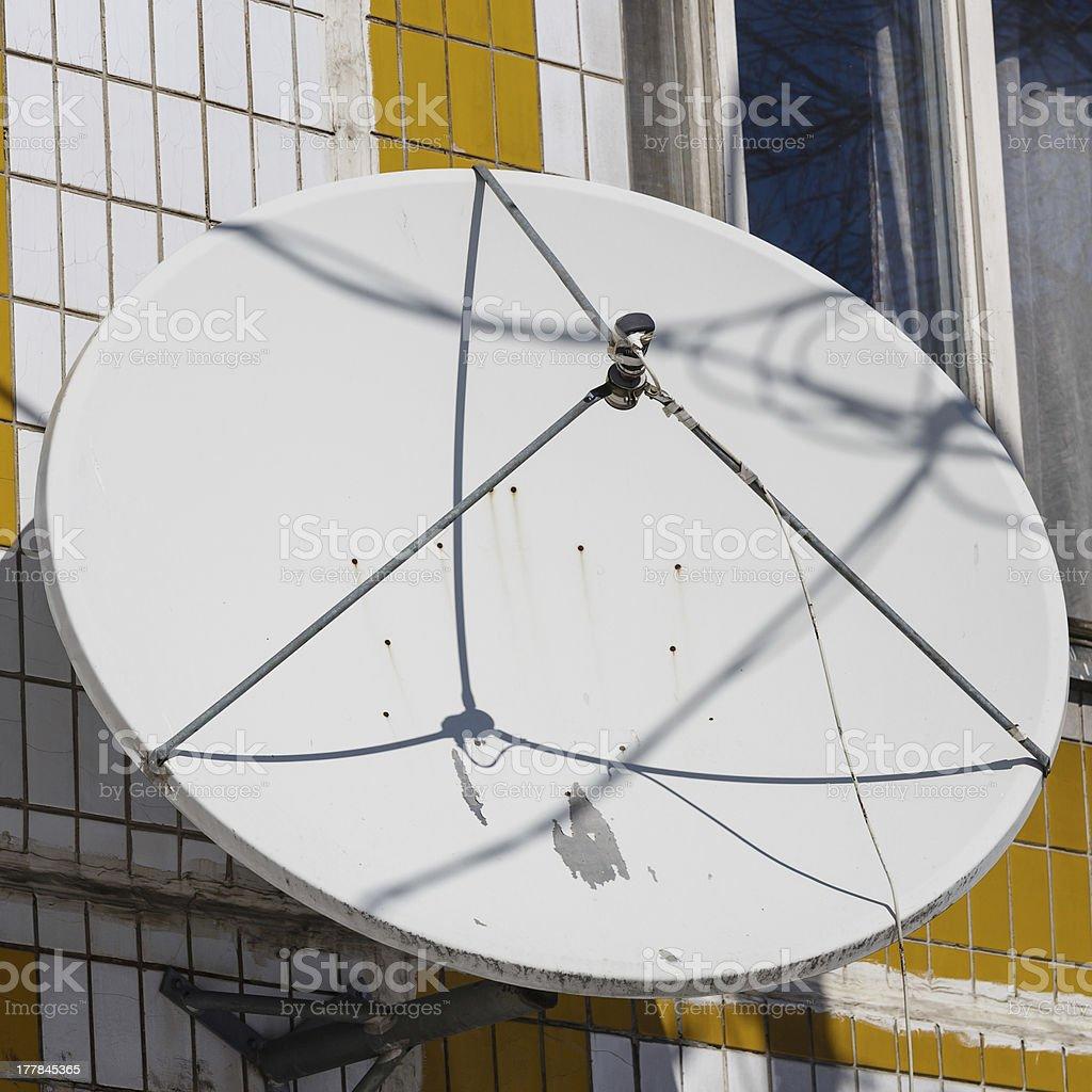 Old satellite antenna royalty-free stock photo