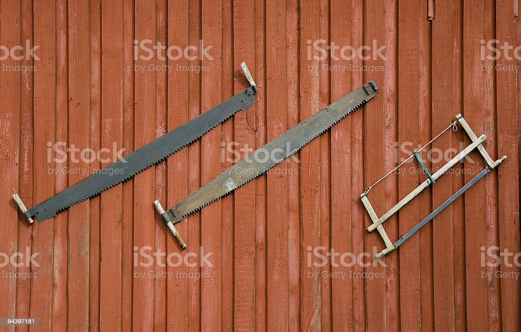 Old Saw royalty-free stock photo