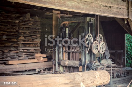 detail of an old sawmill
