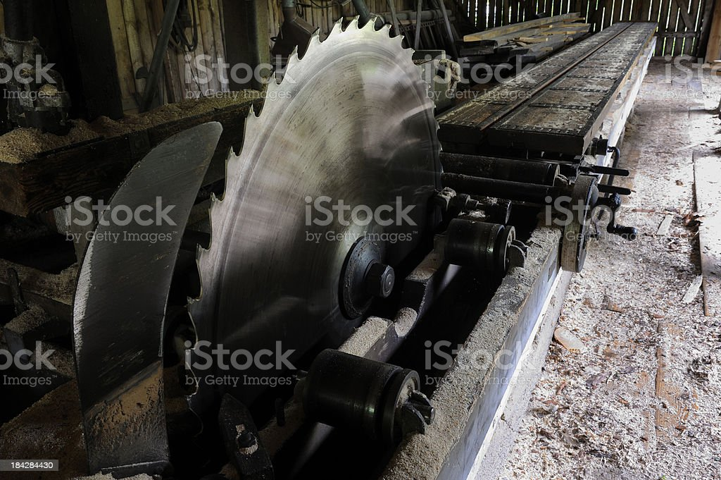 Old sawmill stock photo