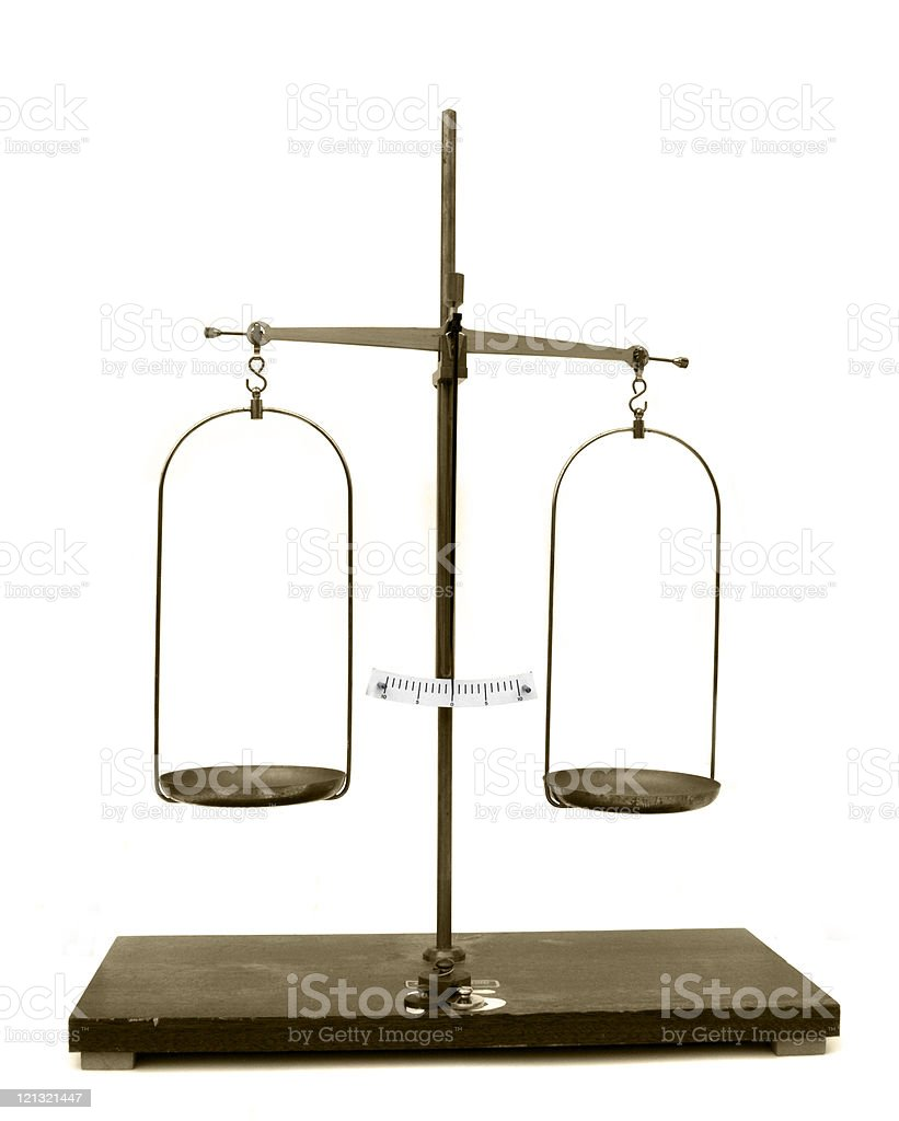 Old scales stock photo