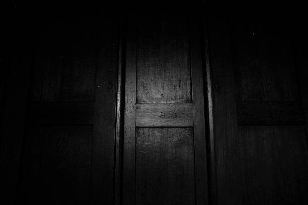 Old Scary Wardrobe Old Scary Wardrobe deathly stock pictures, royalty-free photos & images
