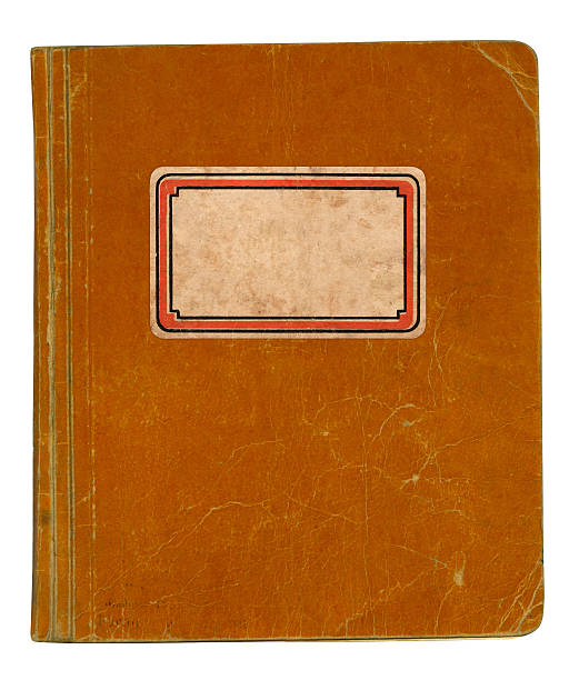 Old School Book Vintage school book with name label blotter stock pictures, royalty-free photos & images