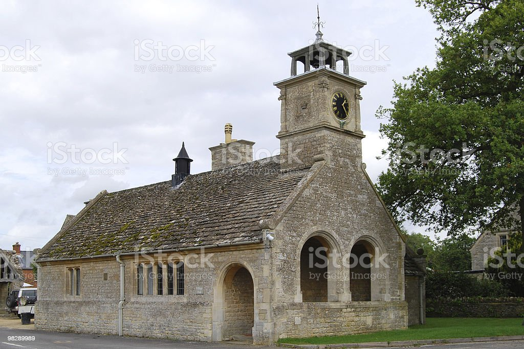 Old School building. Buscot, Oxfordshire, England royalty-free stock photo
