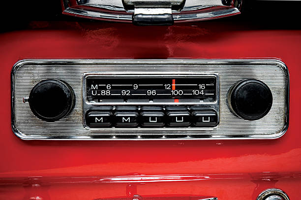 old school car radio stock photo