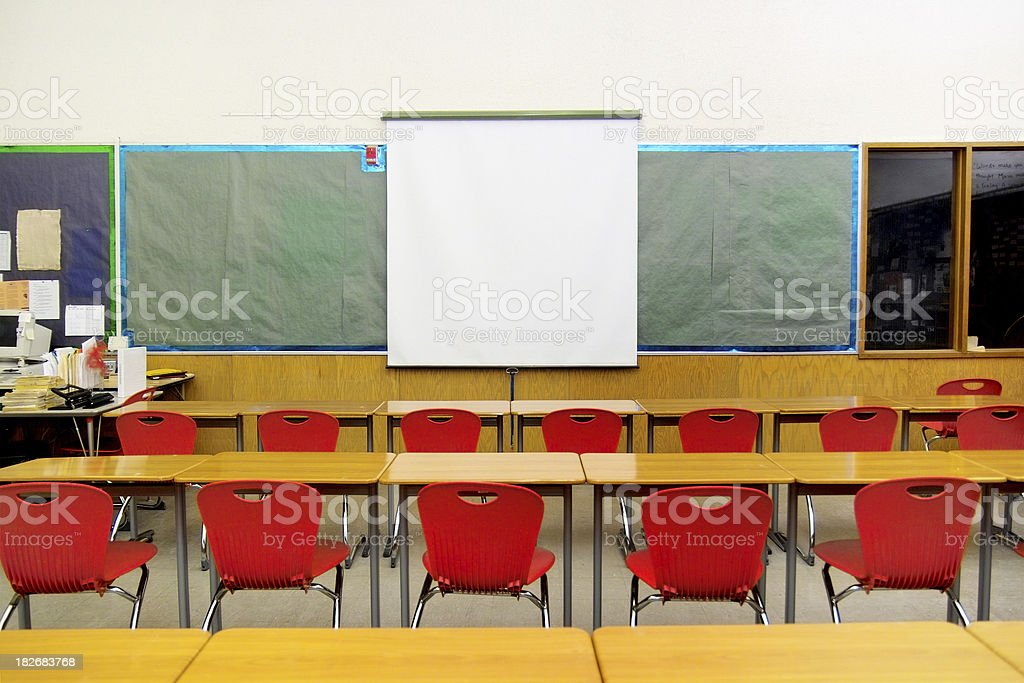 Old School Classroom royalty-free stock photo