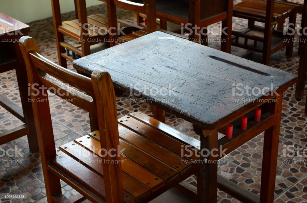 Old School Desk And Chair Stock Photo Download Image Now Istock