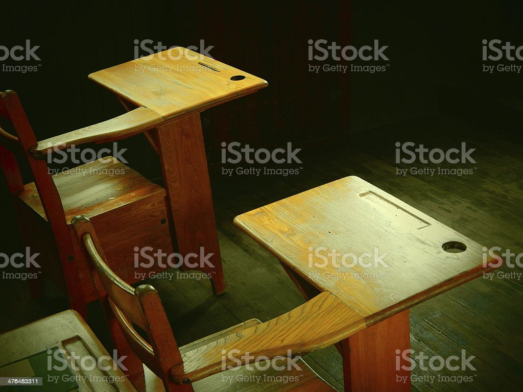 Old School Desk Photo royalty-free stock photo