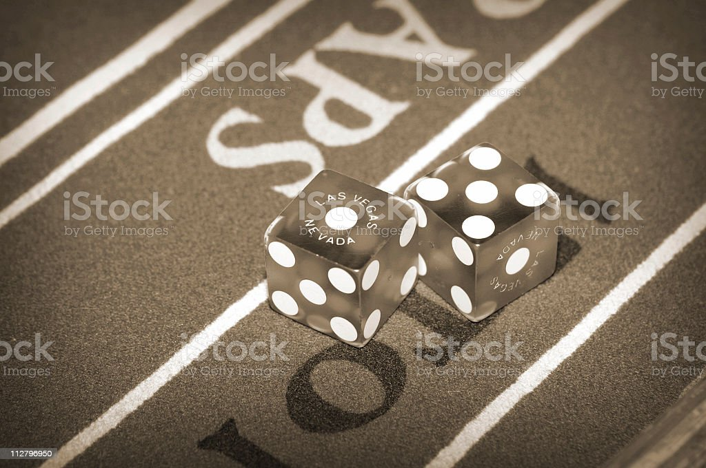 Old School Dice royalty-free stock photo