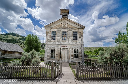 Abanadoned School building in Bannack State Park. Bannack is a ghost town in Montana, USA.
