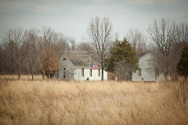 Old School House stock photo