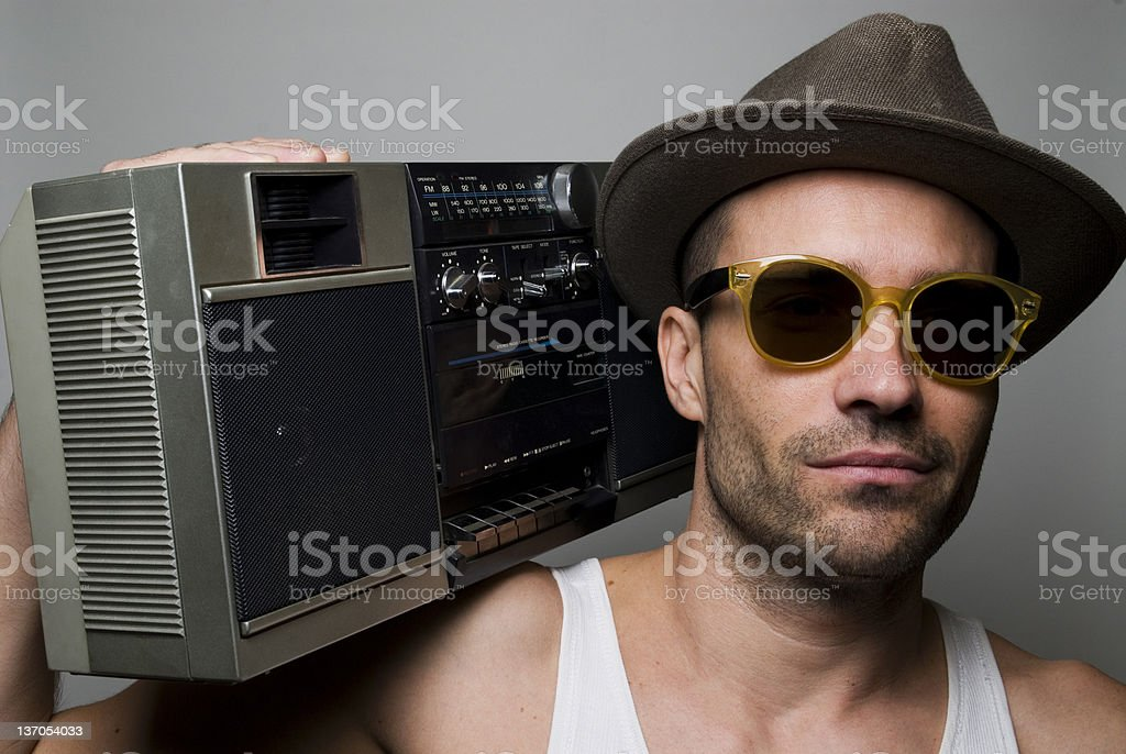 Old School Music Man stock photo