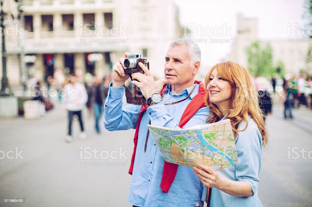 Old school photographer stock photo