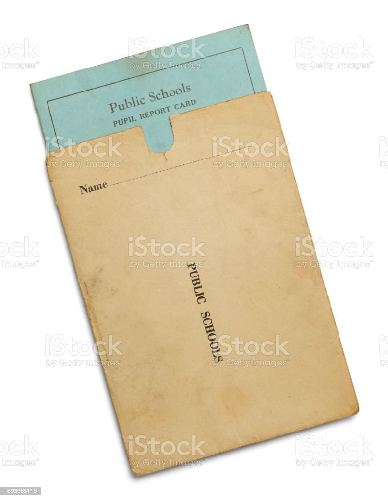 Old School Report Card stock photo