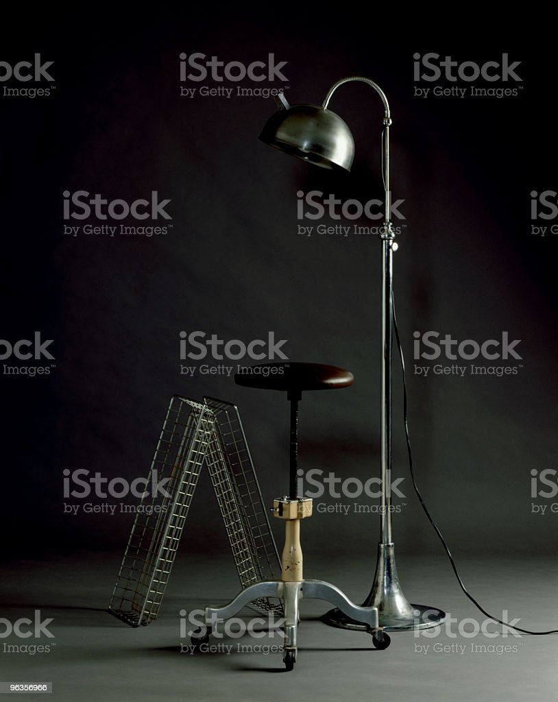 Old School Stool and lamp royalty-free stock photo