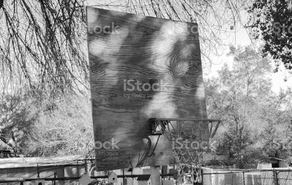 Old School Street Hoops stock photo