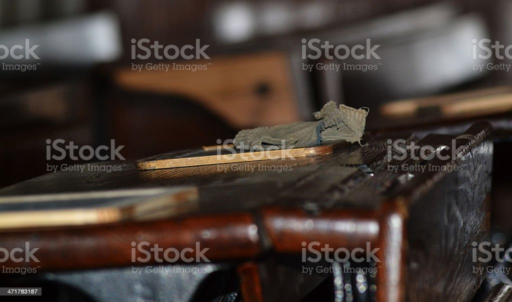 Old School tables with chalkboard royalty-free stock photo