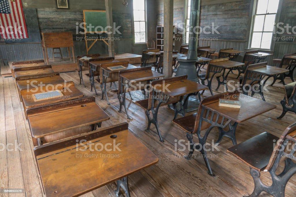 Old Schoolhouse Classroom stock photo
