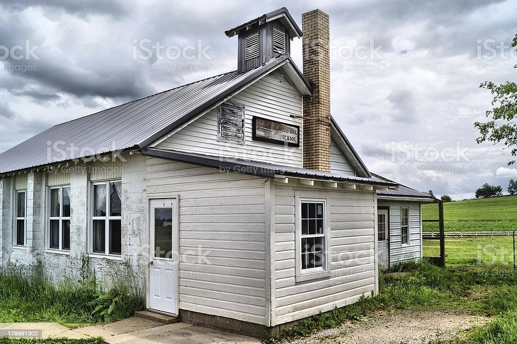Old schoolhouse royalty-free stock photo