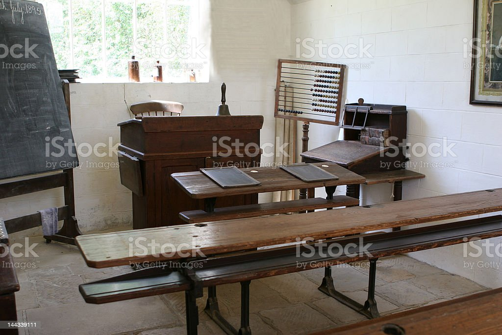 Old Schoolroom stock photo